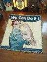 【全国送料無料】ウンチクも含めて最高にオシャレ♪ We Can Do It!のジャイアントラグ ■