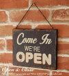 サインボード アンティーク プレート 壁掛け サインプレート We're Open アメリカ アメリカ雑貨 雑貨 額 フレーム 木製 木製看板 営業中 準備中 ボード プレート アンティークボード 看板 かんばん ビンテージ レトロ オープン クローズ close open カフェ カフェ風 北欧