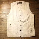 """AT-DIRTY""""WORKERS VEST""""IVORY(アットダーティー)正規取扱店(Official Dealer)Cannon Ball(キャノンボール)"""