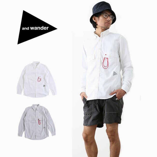 アンドワンダー dry ox shirt(メンズ)