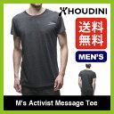 フーディニ メンズ アクティヴィストメッセージT 【送料無料】 【正規品】HOUDINI ベースレイヤー 半袖 男性 メンズ M's Activist Message Tee