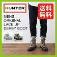 ハンター メンズ オリジナル キャンバス レース アップ ダービーブーツ【正規品】長靴|レインブーツ|男性|HUNTER|MENS ORIGINAL LACE UP DERBY BOOT