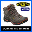 【35%OFF】<2016年モデル> キーン デュラン ミッド WP メンズ【送料無料】KEEN Durand Mid WP 靴|シューズ|トレッキングシューズ|クライミング|登山|富士登山|岩場|低山|ハイキング|防水|耐久性|登山靴|軽量|アウトドア|男性