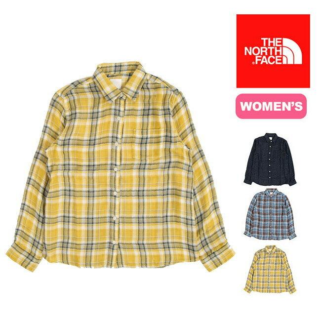 【20%OFF】<残りわずか!>ノースフェイス L/Sパメリアシャツ【ウィメンズ】 【送料無料】 【正規品】トップス シャツ 長袖 ウィメンズ 女性 アウトドア 登山 キャンプ 旅行 トラベル L/S PAMELIA Shirt