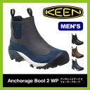 【30%OFF】KEEN キーン アンカレッジ ブーツ2 WP メンズ【送料無料】ブーツ レインブーツ サイドゴア 男性 防寒 防水 おしゃれ アウトドア ショートブーツ Anchorage Boot 2 WP
