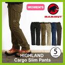 【30%OFF】MAMMUT マムート ハイランド カーゴスリムパンツ 【ウィメンズ】マムート パンツ カーゴパンツ ボトムス レディース 女性 HIGHLAND Cargo Slim Pants