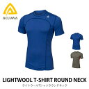 【15%OFF】 アクリマ ライトウールTシャツ メンズ【正規品】 ACLIMA Tシャツ インナー 消臭 通気性 ベースレイヤー アンダーウェア メリノウール100% オールシーズン 通年性 アウトドア ランニング サイクリン【FMSA】