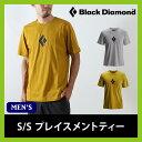 Black Diamond ブラックダイヤモンド S/S プレイスメントティー ショート スリーブ 半袖 Tシャツ コットン クルーネック グラフィック プリントT BD67561 メンズ