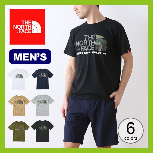 【10%OFF】ノースフェイス カモフラージュロゴティー THE NORTH FACE S/S Camouflage Logo Tee メンズ トップス Tシャツ 半袖 ショートスリーブ <2018 春夏>