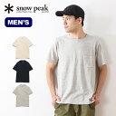 スノーピーク オーガニックTシャツ snow peak Organic Tshirt ウェア Tシャツ トップス 半袖 メンズ 男性 アウトドア キャンプ <2018 春夏>
