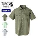 マウンテンハードウェア キャニオンソリッドショートスリーブシャツ メンズ Mountain Hardwear Canyon Solid Short Sleeve Shirt メンズ シャツ 半袖 襟シャツ ショート OE7044 <2019 春夏>