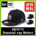<残りわずか!>【40%OFF】 ニューエラ 59FIFTY ベースボールキャップ メルトン NEW ERA59FIFTY Baseball cap 帽子 アウ...