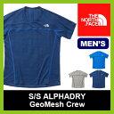 <2016年春夏新作!>ノースフェイス S/S アルファドライ ジオメッシュクルー【正規品】THE NORTH FACE|インナー|Tシャツ|半袖|男性|メンズ|S/S ALPHADRY GeoMesh Crew