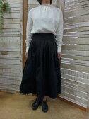 【GRANDMA MAMA DAUGHTER】チノプリーツスカート  GK001(グランマ ママ ドーター)