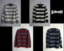 セール Schott シェットランドニットクルーネックボーダーセーターSHETLAND BORDER SWEATER★3164001☆Schottショット