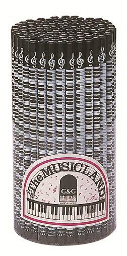 ト音記号と鍵盤鉛筆♪HB この商品はお取り寄せ商品です♪♪ピアノ教室・バイオリン教室・吹奏楽部の記念品にピアノ発表会 記念品 音楽会粗品 に最適♪レッスントート 音楽雑貨 ねこ雑貨 バレエ雑貨
