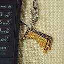 マリンバ 携帯ストラップ♪♪お取り寄せ商品です。【打楽器・携帯ストラップ-音楽雑貨】