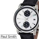 ポールスミス 腕時計 メンズ [Paul Smith 時計] ブロック ( BLOCK ) シルバー/P10032 [革 ベルト/アナログ/クロノグラフ/ブラック][プレゼント・ギフト][おしゃれ腕時計][新生活][父の日]