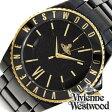 ヴィヴィアンウエストウッドタイムマシーン腕時計 [VivienneWestwoodTIMEMACHINE時計 ]( Vivienne Westwood TIMEMACHINE 腕時計 ヴィヴィアン ウエストウッド 時計 ヴィヴィアン腕時計 ) セラミック メンズ/ブラック/VV048GDBK [デザイン][送料無料][おしゃれ]