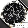 [送料無料]ヌーンコペンハーゲン腕時計 [nooncopenhagen時計](noon copenhagen 腕時計 ヌーン コペンハーゲン 時計) 時計/ブラック(柄)/NOON-78-001L1[ギフト/プレゼント/ご褒美]