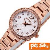 [送料無料]フォリフォリ腕時計 folli follie時計 folli follie 腕時計 フォリフォリ 時計 アリアウォッチ ARRIA WATCH レディース/シルバーホワイト WF2B015BSS [アナログ 人気 セレブ ピンクゴールド かわいい][ギフト/プレゼント/ご褒美]