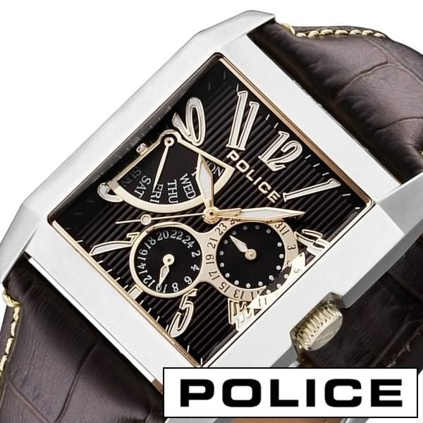 ポリス 腕時計 [ POLICE 腕時計 ] ポリス 時計 [ POLICE 時計 ] ポリス腕時計 [ POLICE腕時計 ] ポリス時計 [ POLICE時計 ] キングス アベニュー KING'S AVENUE メンズ/ブラック 13789MS-12 [革ベルト/ブラウン/茶/銀/金] [新生活 入学 卒業][プレゼント] [][正規品][5年延長保証][送料無料]【国内正規品】ポリス 腕時計 ( POLICE 腕時計 ポリス 時計 POLICE 時計 ) ポリス腕時計 ( POLICE腕時計