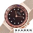 スカーゲン腕時計 SKAGEN時計 SKAGEN 腕時計 スカーゲン 時計 レディース/ブラウンパール 456SRR1 [人気/新作/ブランド/防水/ステンレス ベルト/ピンク ゴールド][送料無料]