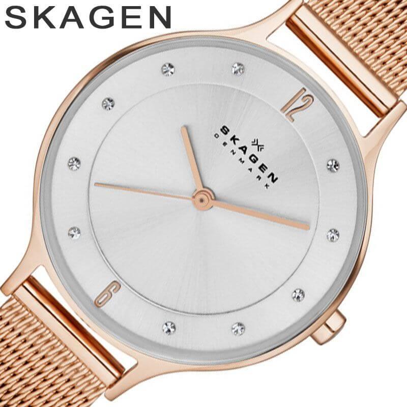 スカーゲン 腕時計[SKAGEN 時計]スカーゲン 時計[SKAGEN 腕時計]スカーゲン腕時計[SKAGEN時計]ア二タ Anita レディース/シルバー SKW2151 [人気/新作/流行/ブランド/防水/メタル ベルト/シンプル/薄型/北欧/ピンク ゴールド/アニータ/クリスタル/プレゼント][母の日] [送料無料][プレゼント・ギフト]SKAGEN腕時計 [スカーゲン時計] SKAGEN 腕時計 スカーゲン 時計 ア二タ (Anita )[薄型 軽量 シンプル かわいい][人気 トレンド 北欧]