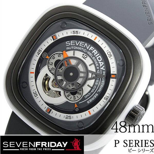セブンフライデー腕時計 SEVENFRIDAY時計 バーバリー SEVENFRIDAY 腕時計 セブンフライデー 時計 インダストリアル 北欧 ブリー P スカーゲン SERIES INDUSTRIAL BULLY メンズ/グレー P3-03-BULLY [ラバー ベルト/機械式/自動巻/メカニカル/スイス/ホワイト/ブラック/P3-3]:腕時計のセレクトショップカプセル [][送料無料]SEVENFRIDAY時計 セブンフライデー腕時計 SEVENFRIDAY 腕時計 セブンフライデー 時計 ピー シリーズインダストリアルブリー P
