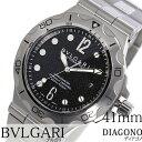 ブルガリ 腕時計 [ BVLGARI時計 ]( BVLGARI 腕時計 ブルガリ 時計 ) ディアゴノ プロフェッショナル スクーバ アクア ( DIAGONO ) メンズ/腕時計/ブラック/DP42BSSDSD [メタル ベルト/機械式/自動巻/メカニカル/スイス/シルバー/スポーツ/防水/ダイバー][プレゼント・ギフト]