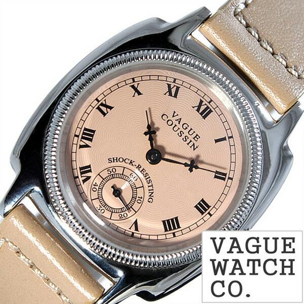 ヴァーグウォッチ 腕時計 [ VAGUE WATCH Co.時計 ]( VAGUE WATCH Co. 腕時計 ヴァーグ ウォッチ コー 時計 ) クッサン ( COUSSIN ) メンズ/腕時計/ピンクベージュ/CO-L-004 [正規品/人気/流行/ブランド/防水/レザー/革/シルバー][プレゼント・ギフト][ おしゃれ腕時計 ] [正規品][送料無料][プレゼント・ギフト]VAGUE WATCH Co.腕時計 [ ヴァーグ ウォッチ コー時計 ] VAGUE WATCH Co. 腕時計 ヴァーグ ウォ