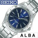 ホワイトデー お返し セイコーアルバ 腕時計 SEIKOALBA時計 (SEIKO ALBA 腕時計 セイコー アルバ 時計) メンズ 腕時計 ブルー AQPS002 メタル ベルト 正規品 クォーツ アナログ スタンダード シルバー ネイビー プレゼント ギフト 新社会人 卒業 おしゃれ ブランド