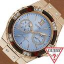 ゲス 腕時計 [GUESS時計]( GUESS 腕時計 ゲス 時計 ) ライムライト ( LIMELIGHT ) レディース 腕時計 ブルー W0775L7 [レザー ベルト 正規品 新作 ファッション ウォッチ カジュアル スカイブルー ローズゴールド][バーゲン プレゼント ギフト][おしゃれ 腕時計]