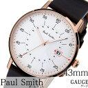 [ホワイトデー お返し]ポールスミス腕時計 paul smith時計 paul smith 腕時計 ポールスミス 時計 ゲージ GAUGE メンズ ホワイト P10077 [新作 高級 革 ベルト レザー シンプル トレンド ブランド おすすめ ギフト プレゼント ブラウン ピンクゴールド][おしゃれ 腕時計]