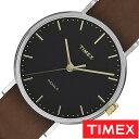 [あす楽]TIMEX 腕時計 タイメックス 時計 ウィークエンダー フェアフィールド Weekender Fairfield 41mm メンズ ブラック TW2P97900 [ 正規品 人気 ブランド アンティーク シンプル カジュアル ファッション レザー ベルト 革 ブラウン] 誕生日 冬ギフト