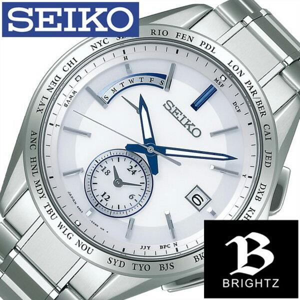 セイコー腕時計 SEIKO時計 SEIKO 腕時計 セイコー 時計 ブライツ BRIGHTZ メンズ/ホワイト SAGA229 [新作/人気/正規品/ブランド/防水/電波ソーラー/チタン/シルバー][母の日] 6月9日発売開始 SEIKO時計 セイコー腕時計 SEIKO 腕時計 セイコー 時計 ブライツ BRIGHTZ