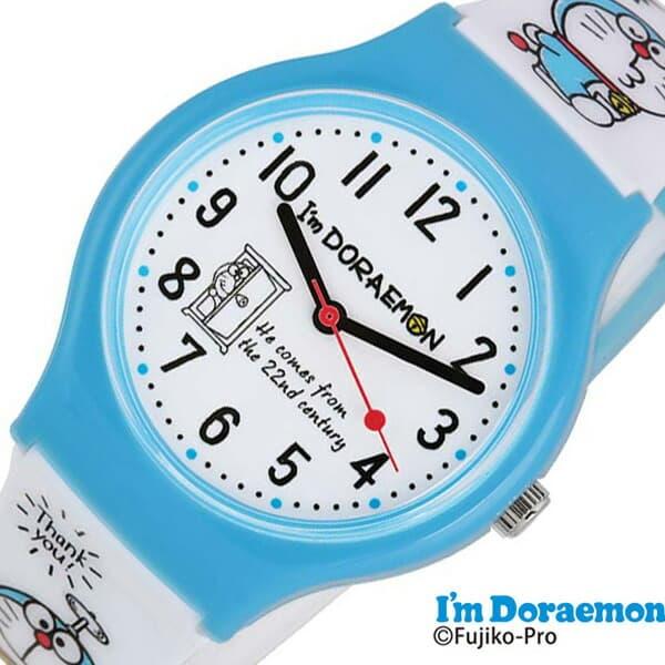 \新春セール中/サンリオ時計 Sanrio Sanrio 時計 サンリオ アイアム ドラえもん I'm Doraemon キッズ 女の子 ホワイト SR-V20 [ 革ベルト レザー 子供用 キッズウォッチ かわいい おしゃれ 小学生 幼稚園生 時間 勉強 キャラクター プレゼント ギフト ]