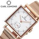 手錶 - [あす楽]カール エドモンド腕時計 CARL EDMOND時計 CARLEDMOND 腕時計 カールエドモンド 時計 グラニット Granit レディース 白 CEG2911-MR18 [ 正規品 ブランド アンティーク 北欧 30代 カップル お揃い 仕事 防水 スクエア型 おしゃれ プレゼント 女性 向け ギフト ]