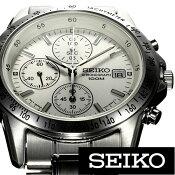 [ 人気商品 ] セイコー腕時計[ SEIKO時計 ](SEIKO 腕時計 セイコー 時計)クロノグラフ メンズ SND363PC [ 正規品 ビジネス リクルート スーツスタイル クロノグラフ 日付 カレンダー メタル ステンレス ベルト カジュアル プレゼント ギフト ][おしゃれ]