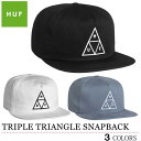 HUF TRIPLE TRIANGLE SNAPBACK CAP ハフ トリプルトライアングル スナップバック キャップ ブラック ホワイト メンズ レディース...