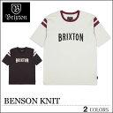 【ゆうパケット対応】 BRIXTON ブリクストン Tシャツ BENSON ブラック ホワイト トップス スケート メンズ レディース ロンハーマン ロンハーマン フェス サーフ