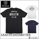 【ゆうパケット対応】 BRIXTON ブリクストン Tシャツ LEAD ブラック ネイビー ホワイト トップス スケート メンズ レディース ロンハーマン フェス サーフ
