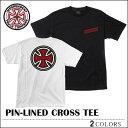 【レビュー記載でメール便送料無料】INDEPENDENT インディペンデント Tシャツ ピンラインクロス PIN-LINED CROSS スケート メンズ レディース 02P08Feb15