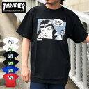 【ゆうパケット送料無料】 THRASHER スラッシャー Tシャツ ブランド メンズ レディース ブラック ホワイト ボーイフレンド BoyFriend TEE SUPREME シュプリーム トップス スケート ストリート