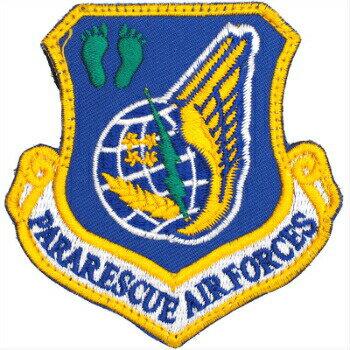 【ミリタリーパッチ】PARARESCUE Air Forces フットプリント [PJ 仕様][ベルクロ付き]