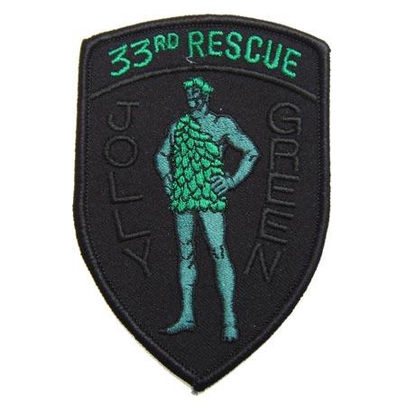 【ミリタリーパッチ】33rd Jolly Green Shield NVGベルクロ付き