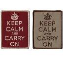 【ミリタリーパッチ】Keep Calm and Carry On パッチ [2色][ベルクロ付き]