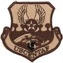 【ミリタリーパッチ】USAF USCENTAF デザート フック付き 【中田商店】