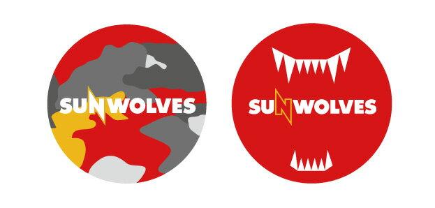 【サンウルブズ】SUNWOLVES 缶バッジ スーパーラグビー