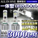 安心1年保証|最高出力 3000LM オールインワン一体型 LEDライトキット H4/H8/HB4 CREE製LED採用 6000k 12v/24v 対応 | FJ3594